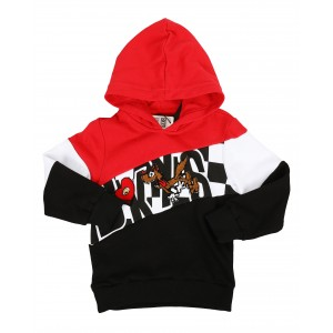 color block hoodie w/ chenille accents (4-7)