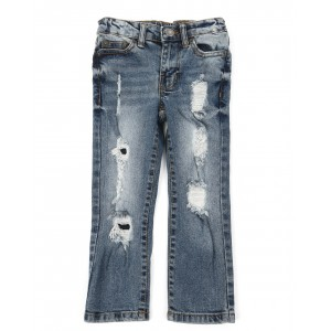 5 pkt denim evan slim straight fit jeans (4-7)