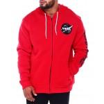 full zip fleece hoodie w/ emb patch (b&t)