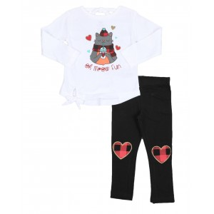 2 pc holiday top & legging set (2t-4t)