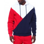 colorblock triangle hoodie