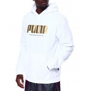 metallic logo hoodie