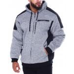 moto stitched nylon pieced lined fleece jacket (b&t)