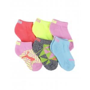 6 pack 1/2 terry low cut socks (4-8.5)