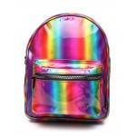 mini backpack metallic rainbow (unisex)
