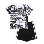 2 pc core origami t-shirt & shorts set (2t-4t)