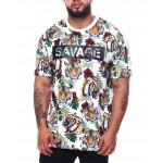 3d savage tiger print t-shirt (b&t)
