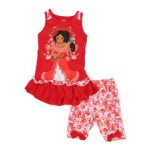 2 pc elena empowered to rule tank & printed bike shorts set (2t-4t)