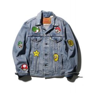 gang patch trucker jacket
