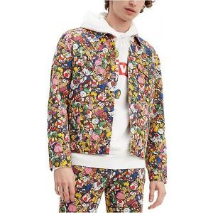 collage trucker jacket