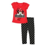 2 pc minnie mouse tee & leggings set (2t-4t)