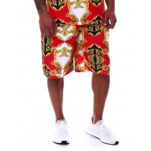 filigree baroque printed scuba shorts (b&t)