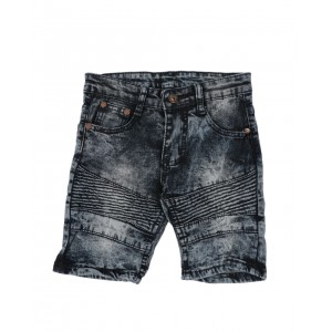 washed stretch moto denim shorts (4-7)