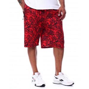rose floral printed scuba shorts (b&t)