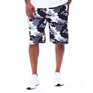 camo printed colorblock scuba shorts (b&t)