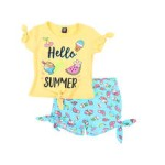 2 pc hello summer tee & printed shorts set (2t-4t)