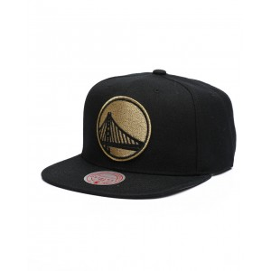 golden state warriors team gold snapback hat