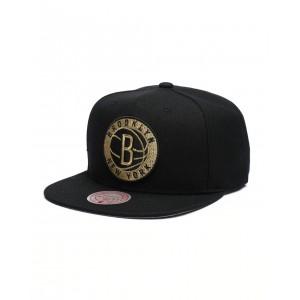 brooklyn nets team gold snapback hat