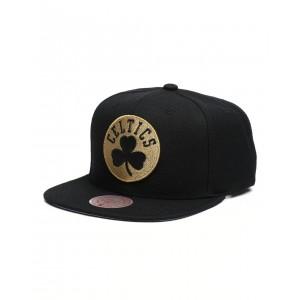 boston celtics team gold snapback hat