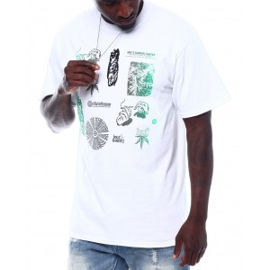 scattered leaves s/s tee