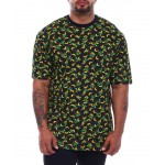banana printed t-shirt with rib collar (b&t)