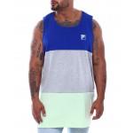 sleeveless tank top color block vertical logo (b&t)