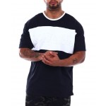 savage colorblock embossed t-shirt (b&t)