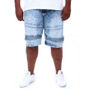 moto denim shorts (b&t)