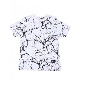 marble print crew neck t-shirt (4-7)