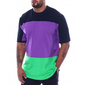 three stripe color block crew t-shirt (b&t)