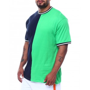two tone split crew t-shirt (b&t)