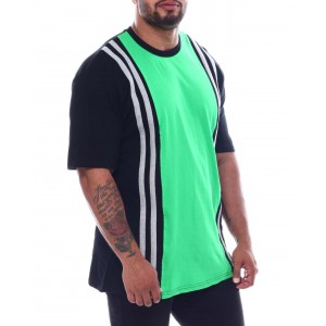 vertical stripe crew t-shirt (b&t)