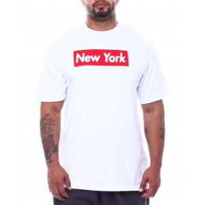 new york chenille patch box tee (b&t)