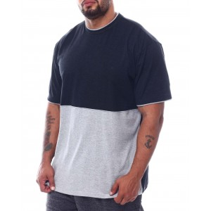 2 tone color block crew t-shirt (b&t)
