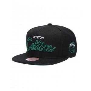 boston celtics neon script snapback hat