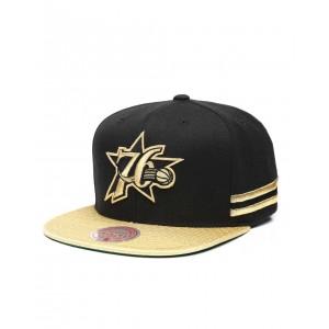 philadelphia 76ers gold snapback hat