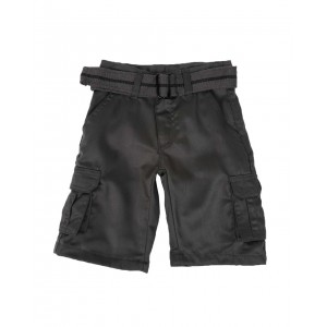 belted twill cargo shorts (4-7)