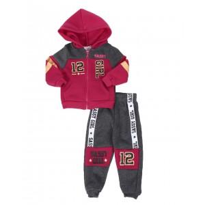 2 pc sassy girl color block zip front hoodie & jogger pants set (4-7)