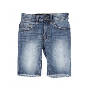 denim raw edge shorts (2t-10)