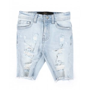 destructed raw edge denim shorts (2t-10)