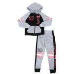 2 pc 08 cute zip front hoodie & jogger pants set (4-6x)