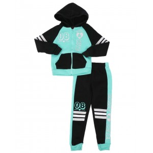 2 pc 08 cute zip front hoodie & jogger pants set (4-6x)