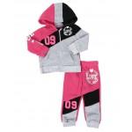 2 pc love 09 zip front hoodie & jogger pants set (infant)