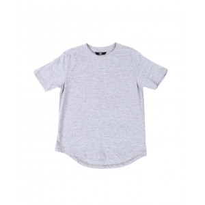 crew neck scallop hem t-shirt (2t-10)