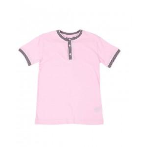 pique contrast trim henley shirt (8-18)