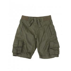 washed twill jogger cargo shorts w/ rib waistband (2t-4t)