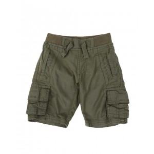 washed twill jogger cargo shorts w/ rib waistband (2t-4t)