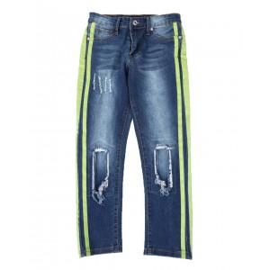 stretch rip & tear side stripe jeans (8-18)