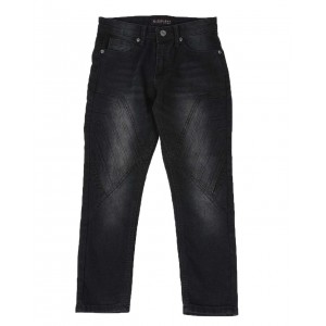 stretch cut & sew 3d embossed jeans (8-18)