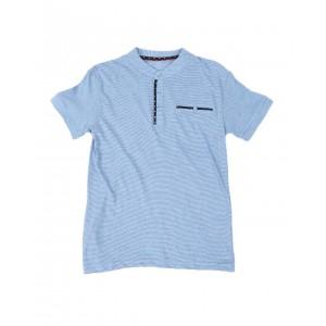 textured moon static henley shirt (8-18)